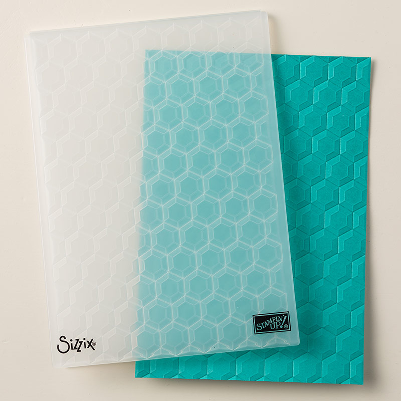 Hexagons 3D Dynamic Textured Impressions Embossing Folder