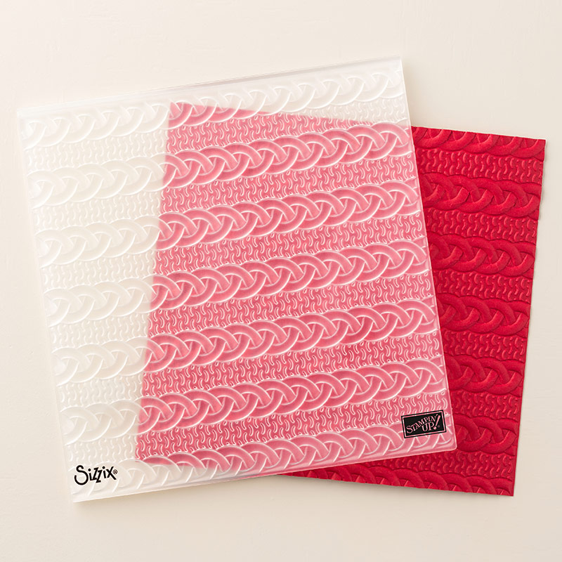 Cable Knit 3D Dynamic Textured Impressions Embossing Folder