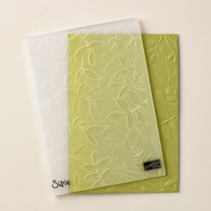 Layered Leaves 3D Dynamic Textured Impressions Embossing Folder
