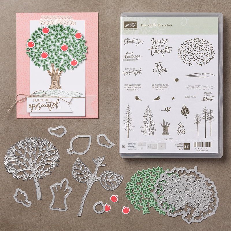Thoughtful Branches Stamp Set + Beauitful Branches Thinlits Dies Bundle