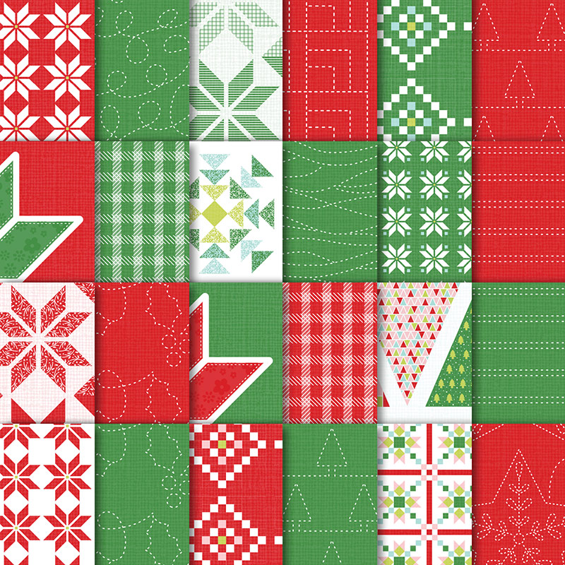 "Quilted Christmas 6"" x 6"" Designer Series Paper"
