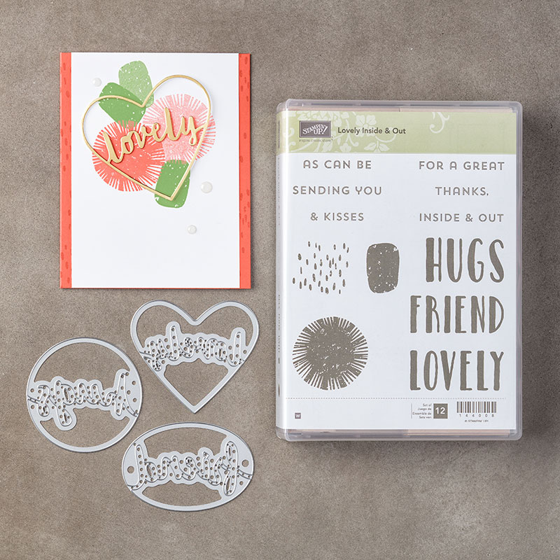 Lovely Inside & Out Stamp Set + Lovely Words Thinlits Dies Bundle