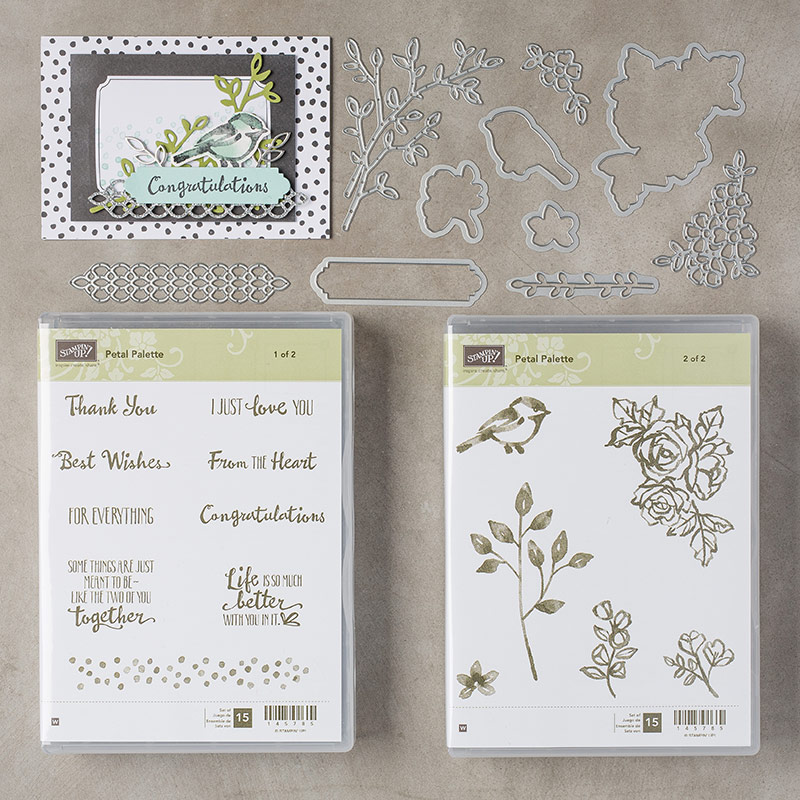 Petal Palette Stamp Set + Petals & More Thinlits Dies