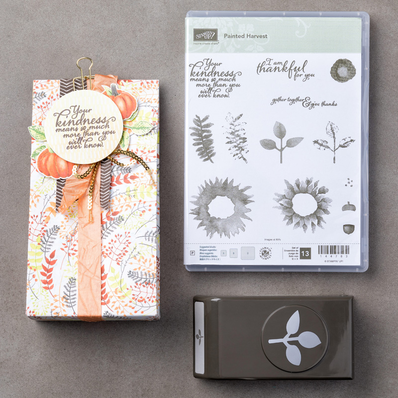 Painted Harvest Stamp Set + Leaf Punch Bundle