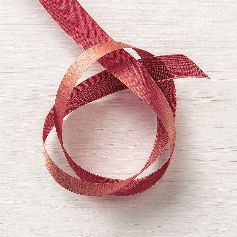 "Merry Merlot & Copper 5/8"" Reversible Ribbon"