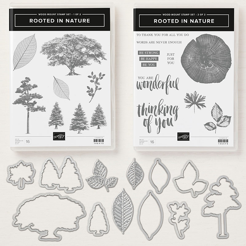 Rooted in Nature Stamp Set + Nature's Roots Framelits Dies Bundle