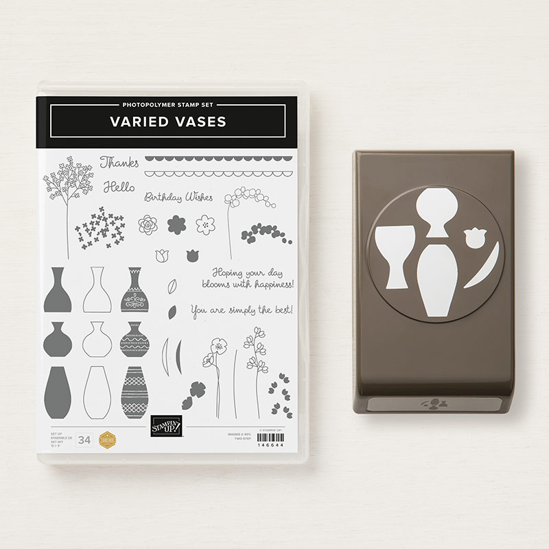 Varied Vases Stamp Set + Vases Builder Punch Bundle