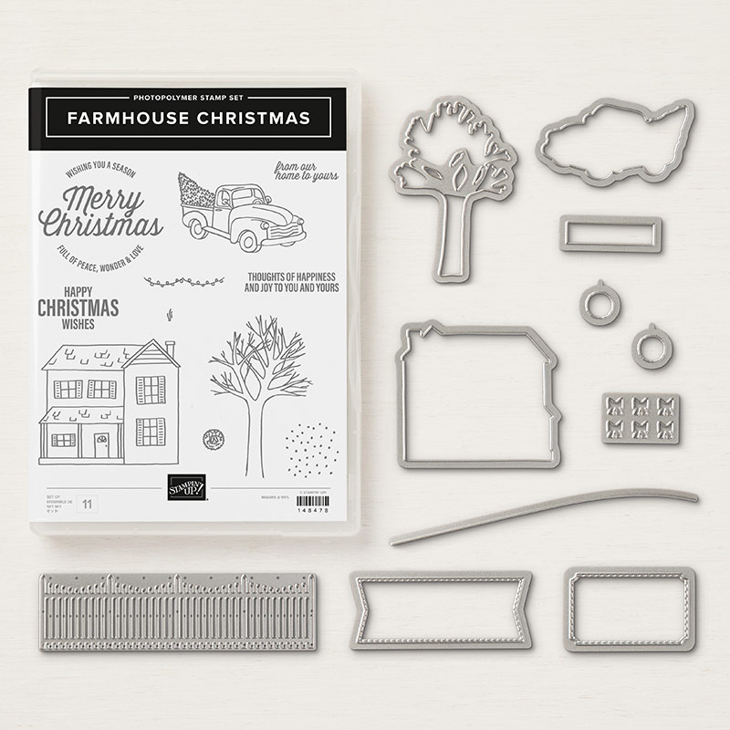 Farmhouse Christmas Stamp Set + Farmhouse Framelits Dies Bundle
