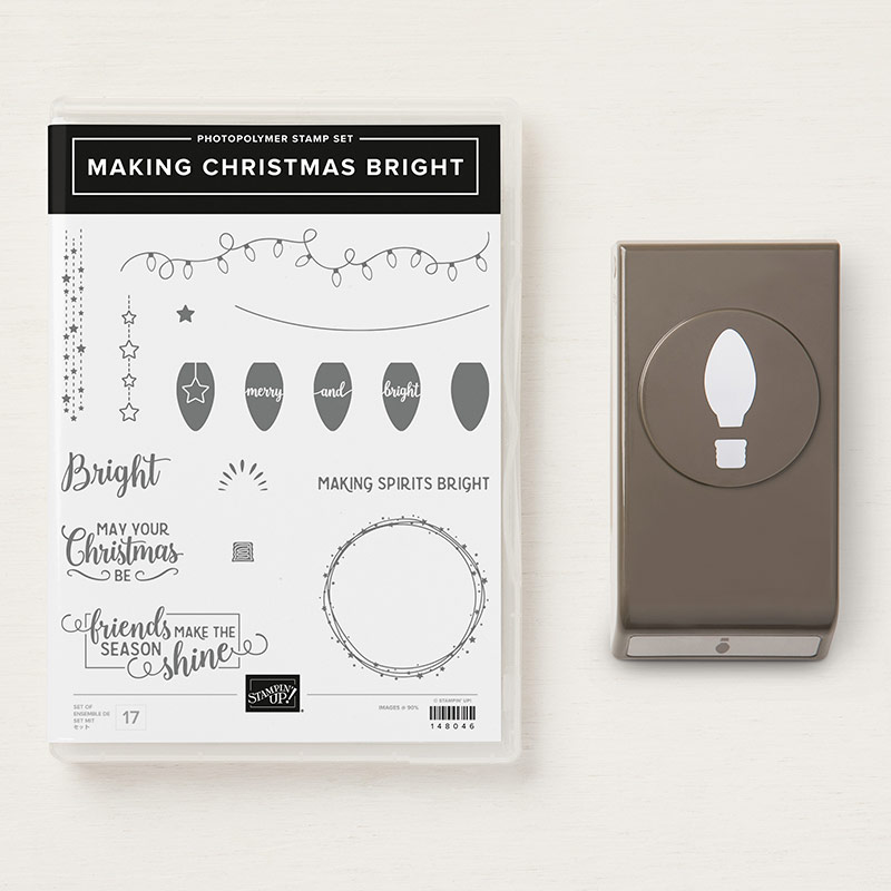 Making Christmas Bright Stamp Set + Christmas Bulb Builder Punch Bundle
