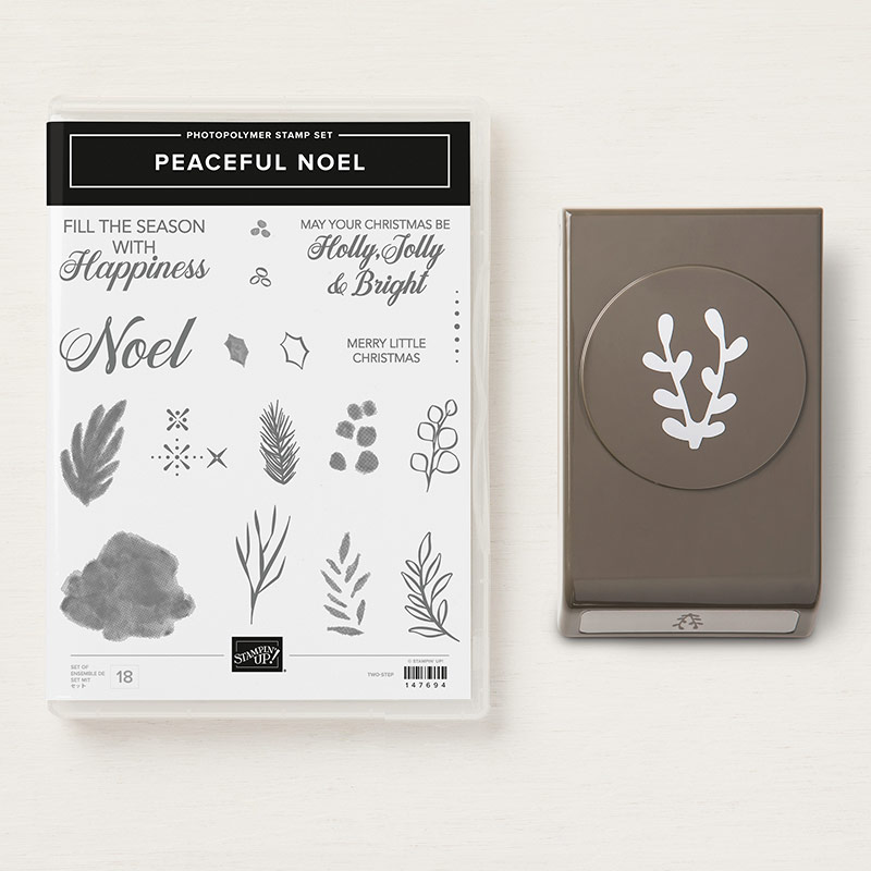 Peaceful Noel Stamp Set + Sprig Punch Bundle