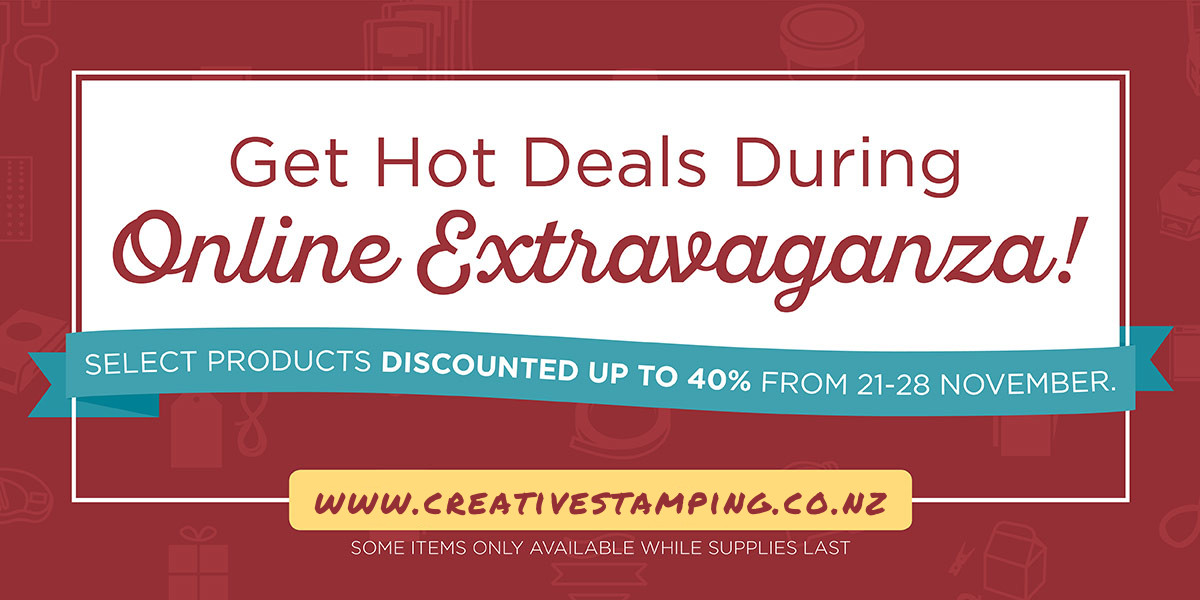 Get Hot Deals During the Online Extravaganza - select products discounted up to 40%-off!
