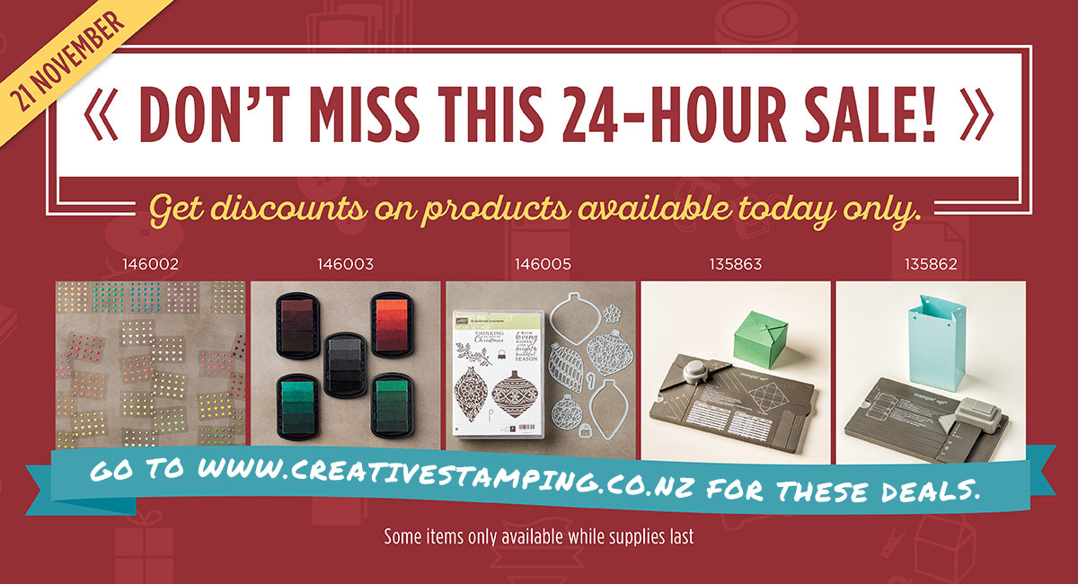 Don't miss this 24-hour sale!  Get discounted on products available today only.