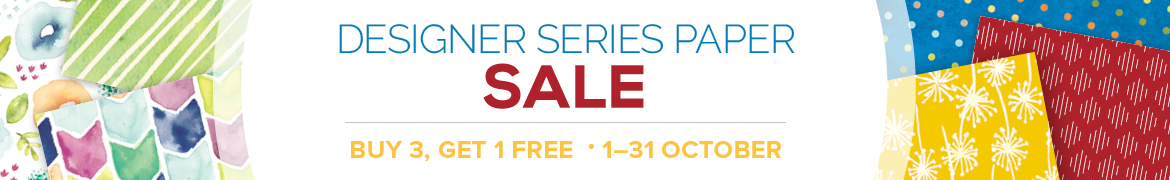 Designer Series Paper Sale | Buy 3, Get 1 Free | 1-31 October