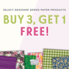Select Designer Series Paper Products - BUY 3, GET 1 FREE! (1-31 July 2018)