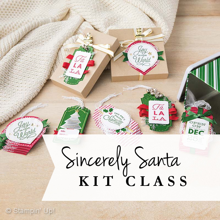 Sincerely Santa Kit Class
