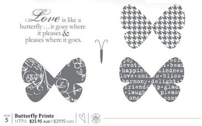 Butterfly Prints stamp set