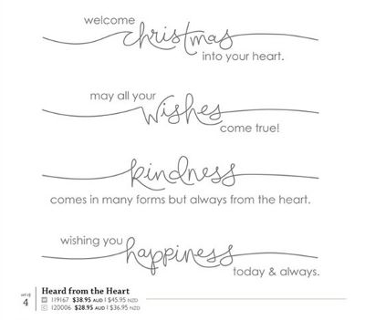 Heard From The Heart stamp set